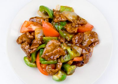 Beef with Green Pepper and Tomato